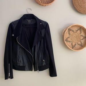 Armani Exhange Leather Moto Jacket